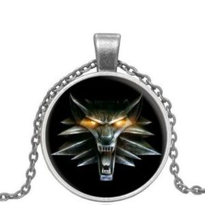 Jewelry - Wolf Head Glass Cabochon Pendant Necklace Gift-e24